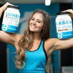 сывороточный протеин и казеин